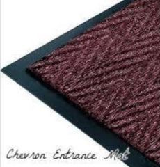 Chevron entrance mat