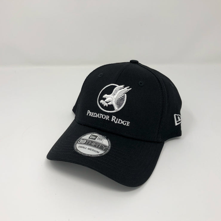 New Era 39Thirty Fitted Cap - White on Black
