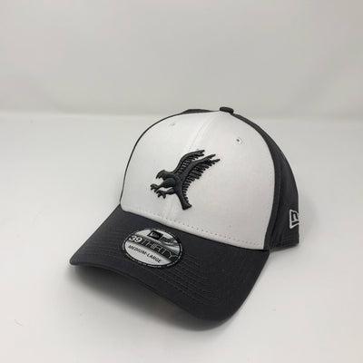New Era 39Thirty Fitted Cap - Black on White & Graphite