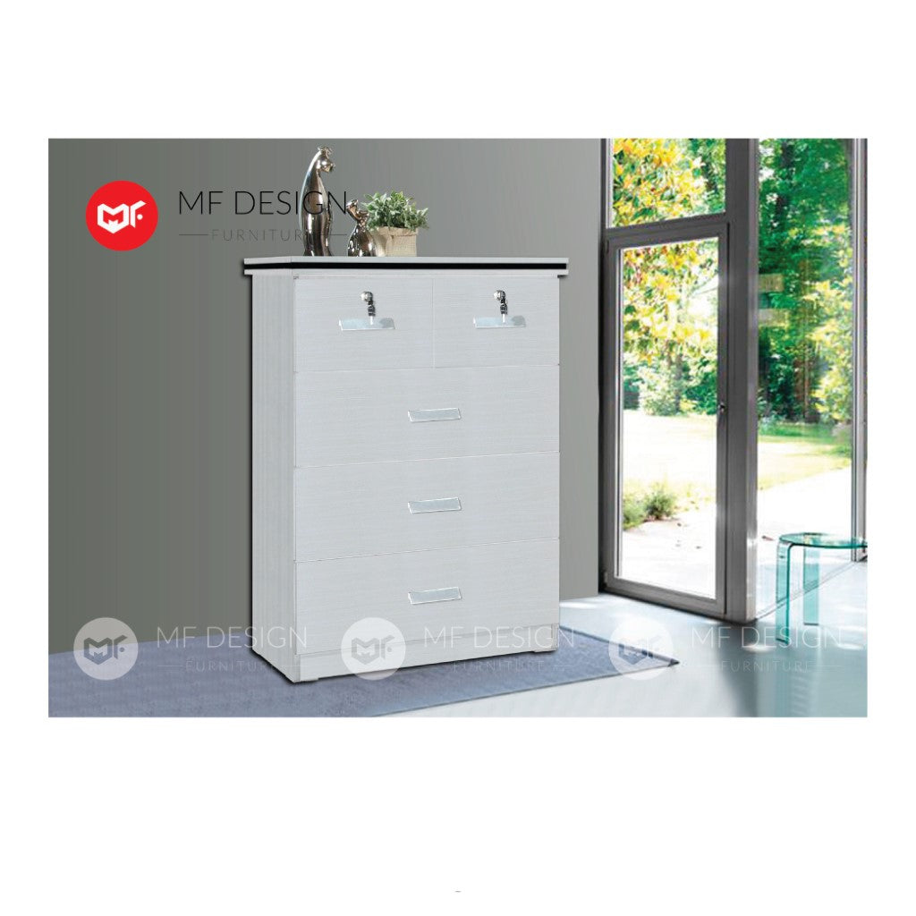 mf design balor chest drawer layer storage cabinet wardrobe / almari baju / cabinet / storage 2 / drawer cabinet