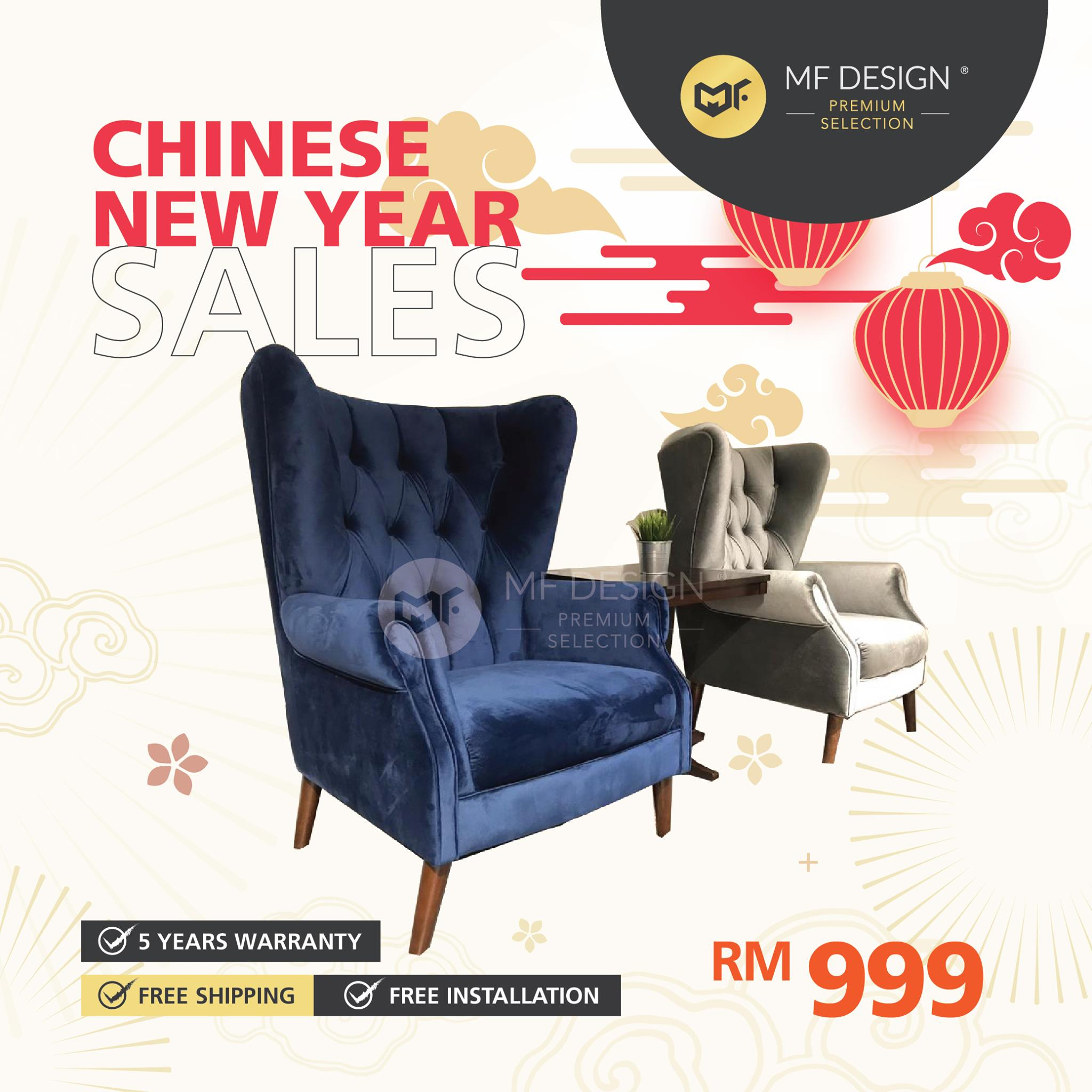 (Free Delivery)  MFD Premium Astron Arm Chair / Single Sofa /  Kerusi arm / 1 Seater Sofa