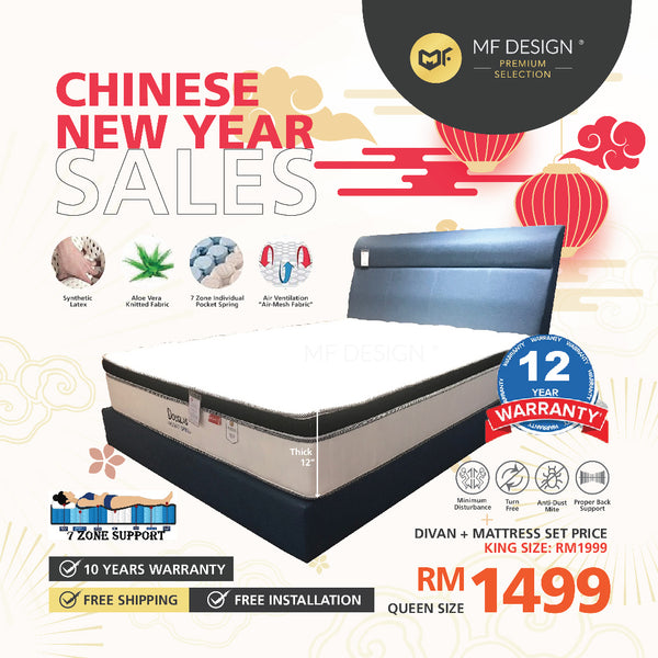 (Free Delivery) MFD Premium Willie Divan With Douglas Mattress / Queen Size/ King Size/ Divan/ Bedframe/ Mattress