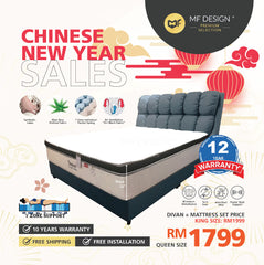 (Free Delivery) MFD Premium Boronial Divan With Douglas Mattress / Queen Size/ King Size/ Divan/ Bedframe/ Mattress