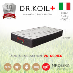 DR.KOIL MF DESIGN DOMO HIGH QUALITY DAMASK 10 INCH SPRING MATTRESS SINGLE SUPER SINGLE QUEEN KING
