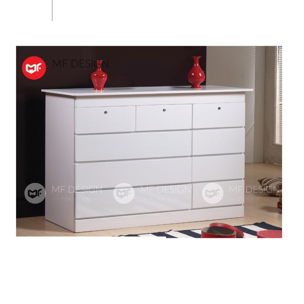 mf design livin chest drawer layer storage cabinet wardrobe / almari baju / cabinet / storage 2 / drawer cabinet