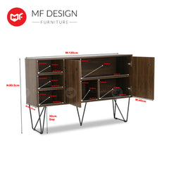 Warren Side Board/ Buffet Cabinet / Side Board Cabinet / TV Cabinet / Display Cabinet / Display Rack L1200MM X W400MM X H800MM