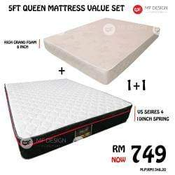 mfdesign88 5FT QUEEN MATTRESS VALUE SET