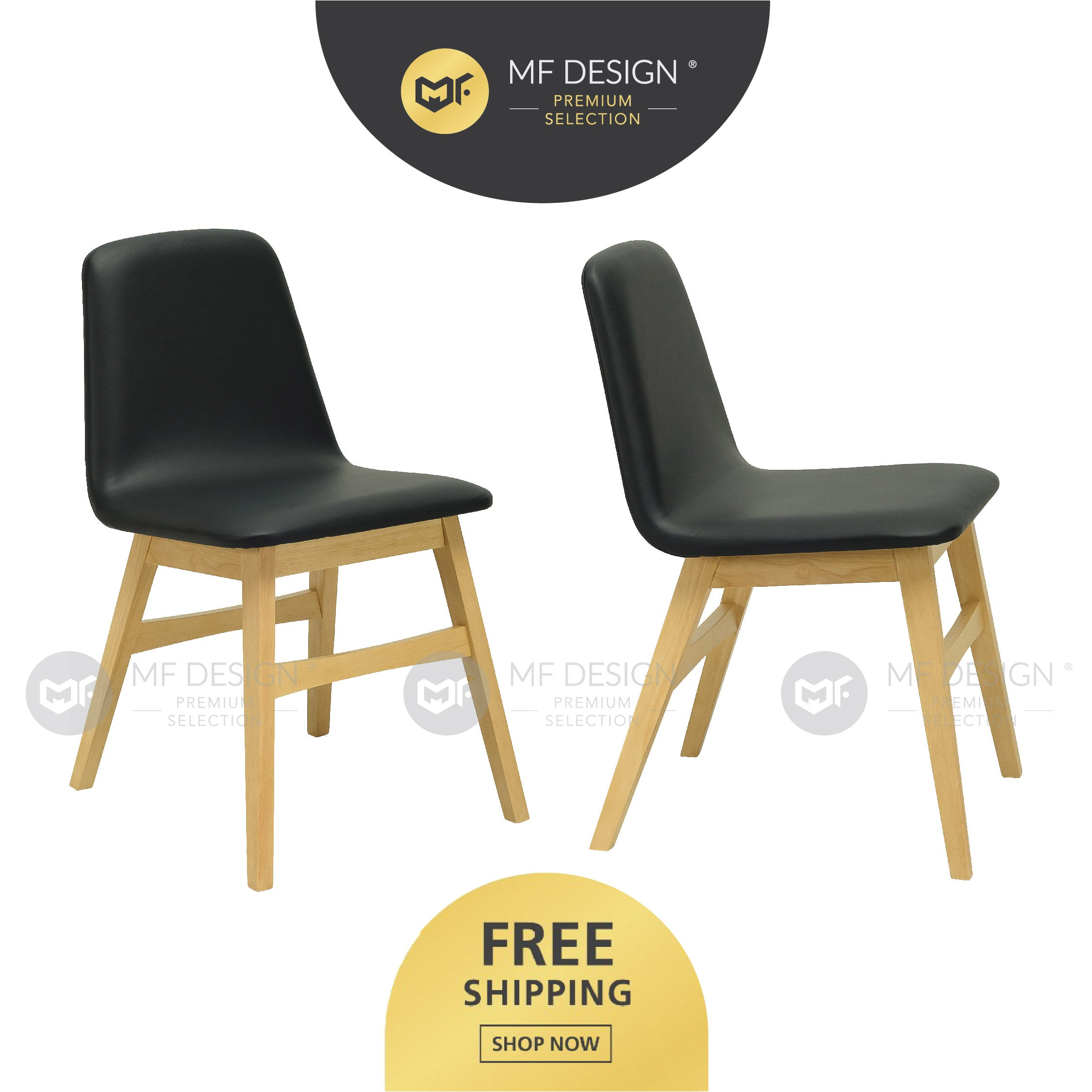 MFD Premium Angeline Dining Chair / Wooden Chair / Solid Rubber Wood / Kerusi Makan Kayu Getah / Living Room