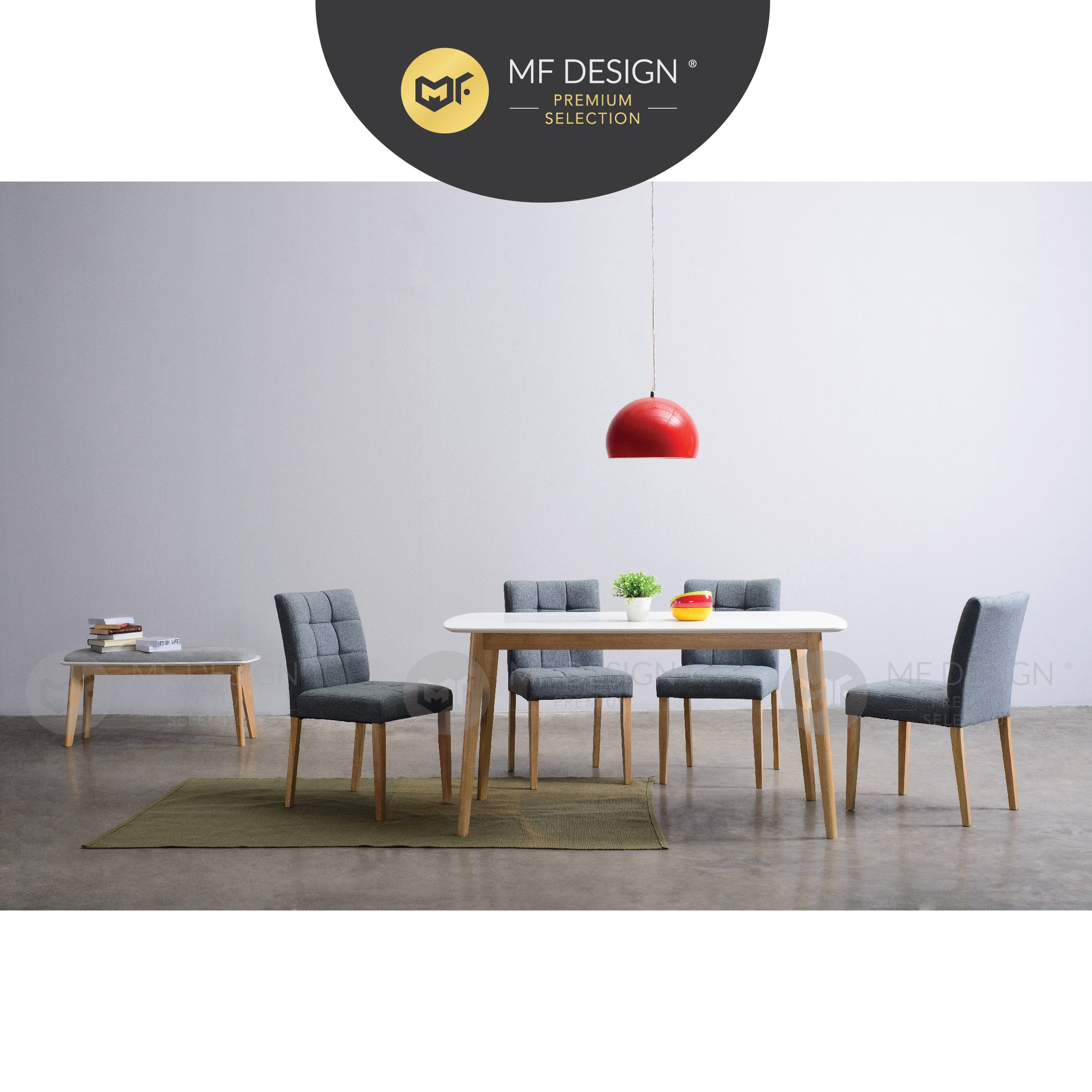 MFD Premium Daisy Dining Chair / Wooden Chair / Solid Rubber Wood / Kerusi Makan Kayu Getah / Living Room / Scandinavian
