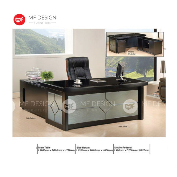 mf design Saliy boss office table l shape