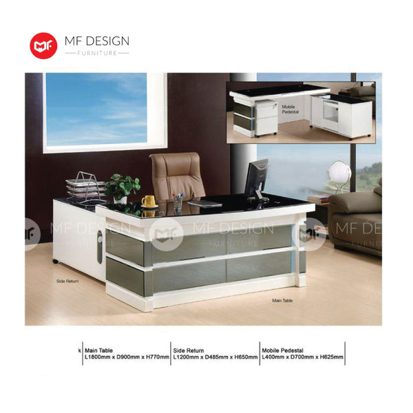 mf design kaliy boss office table l shape