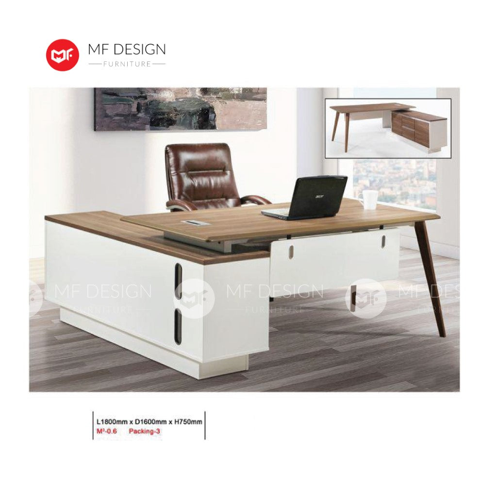 mf design zaliy boss office table l shape