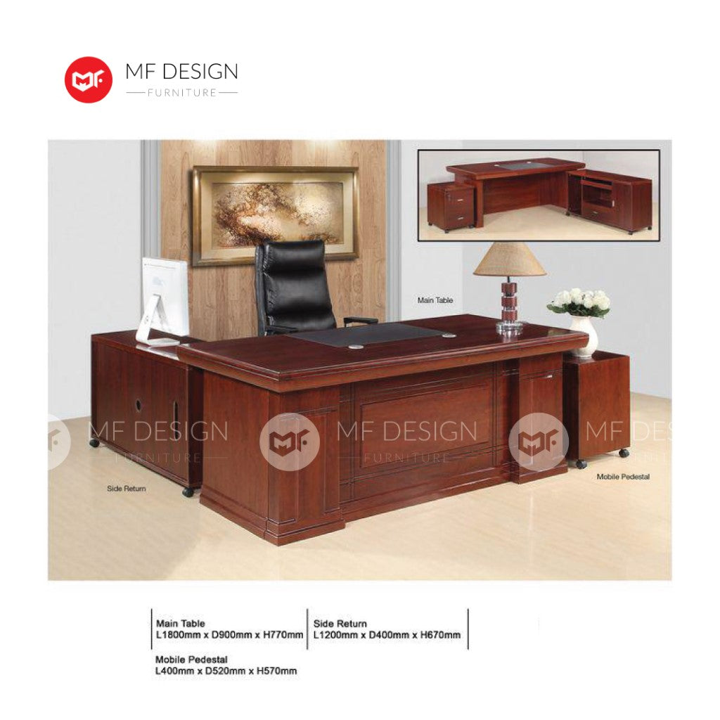 mf design maliy boss office table l shape