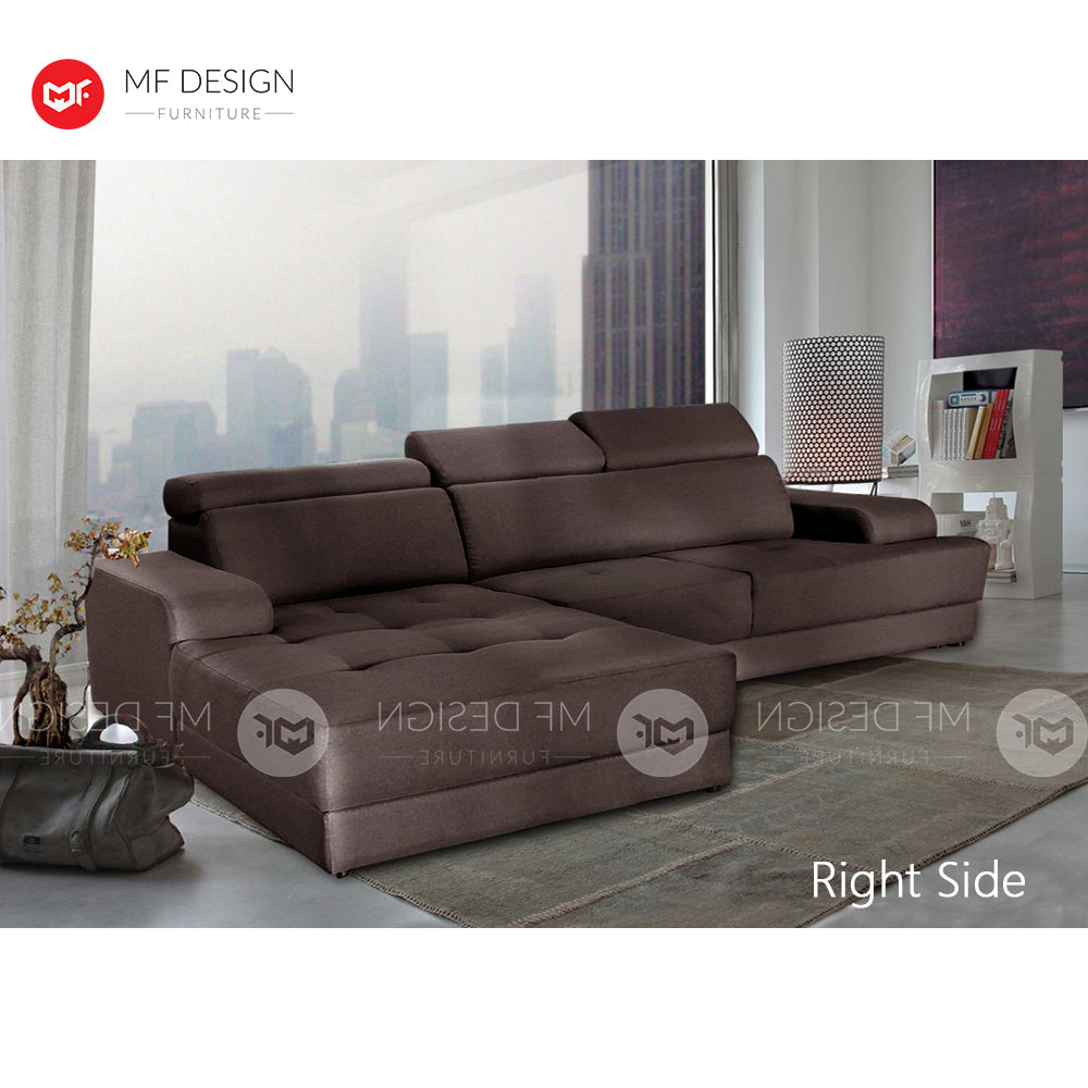 MF DESIGN Golden Hok L SHAPE SOFA / Kerusi Ruang Tamu / Sofa Set / Homestay Sofa / Relax Sofa 2