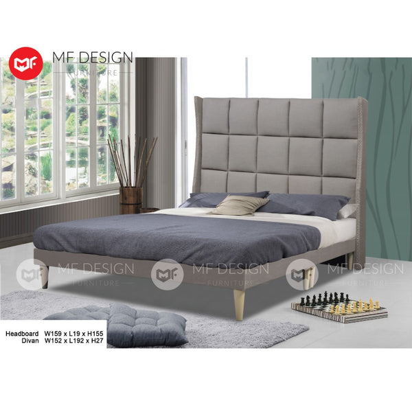 mf design Benjamin Divan With Fabric Leather Queen & King Size Bed Frame / Katil Queen & King / Bed Frame Queen & King / Bed Frame single  / Bed Frame super single / Queen Bed / Single Bed / Super Single Bed / King Bed