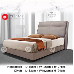 mf design halvar divan divan with fabric leather queen & king size bed frame / katil queen & king / bed frame queen & king / bed frame single  / bed frame super single / queen bed / single bed / super single bed / king bed