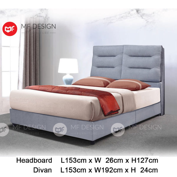 mf design Tydus divan divan with fabric leather queen & king size bed frame / katil queen & king / bed frame queen & king / bed frame single  / bed frame super single / queen bed / single bed / super single bed / king bed