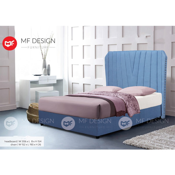 mf design Augustine divan Divan With Fabric Leather Queen & King Size Bed Frame / Katil Queen & King / Bed Frame Queen & King / Bed Frame single  / Bed Frame super single / Queen Bed / Single Bed / Super Single Bed / King Bed-