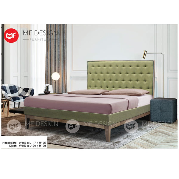 mf design karen divan Divan With Fabric Leather Queen & King Size Bed Frame / Katil Queen & King / Bed Frame Queen & King / Bed Frame single  / Bed Frame super single / Queen Bed / Single Bed / Super Single Bed / King Bed