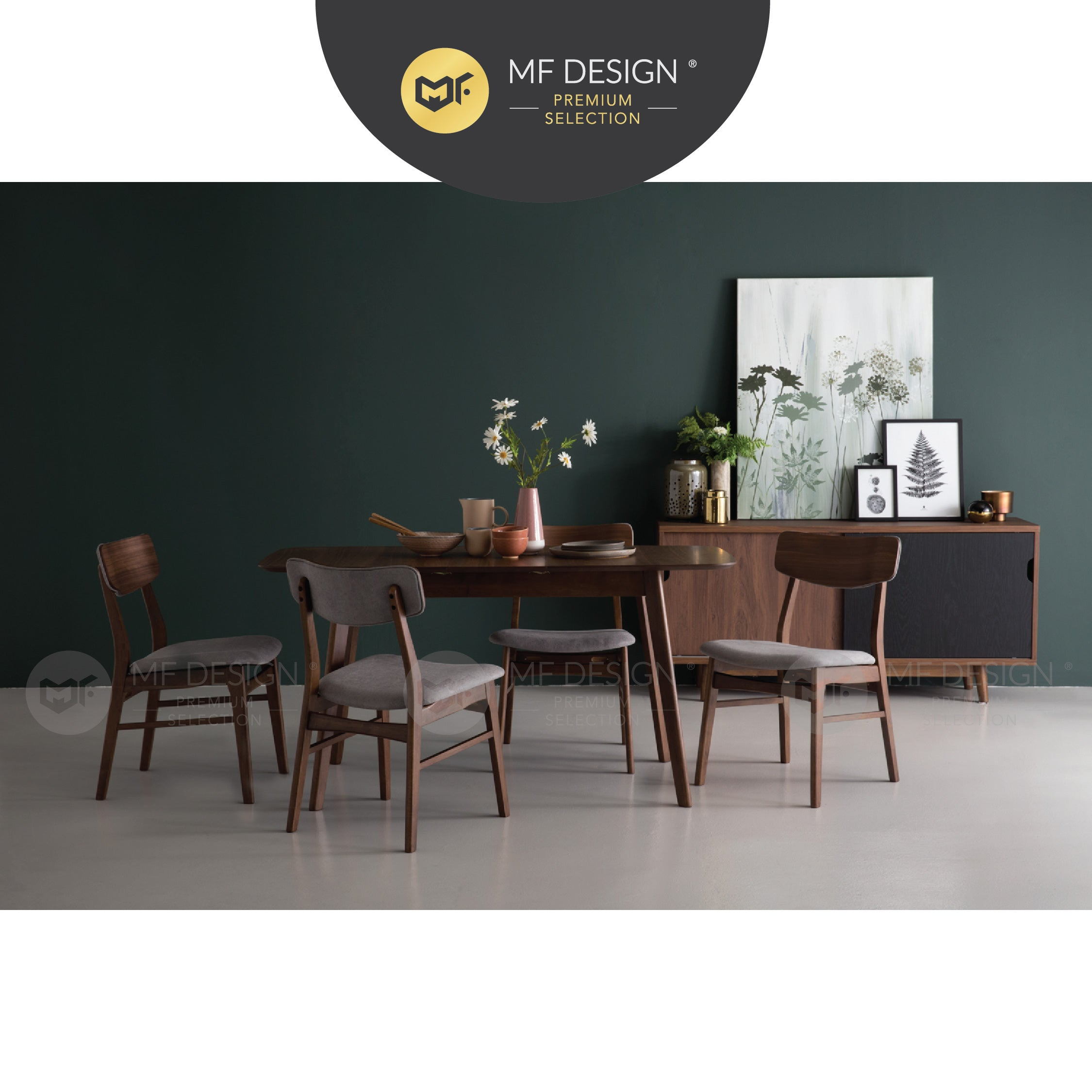 MFD Premium Apple Dining Chair / Wooden Chair / Solid Rubber Wood / Kerusi Makan Kayu Getah / Living Room / Scandinavian