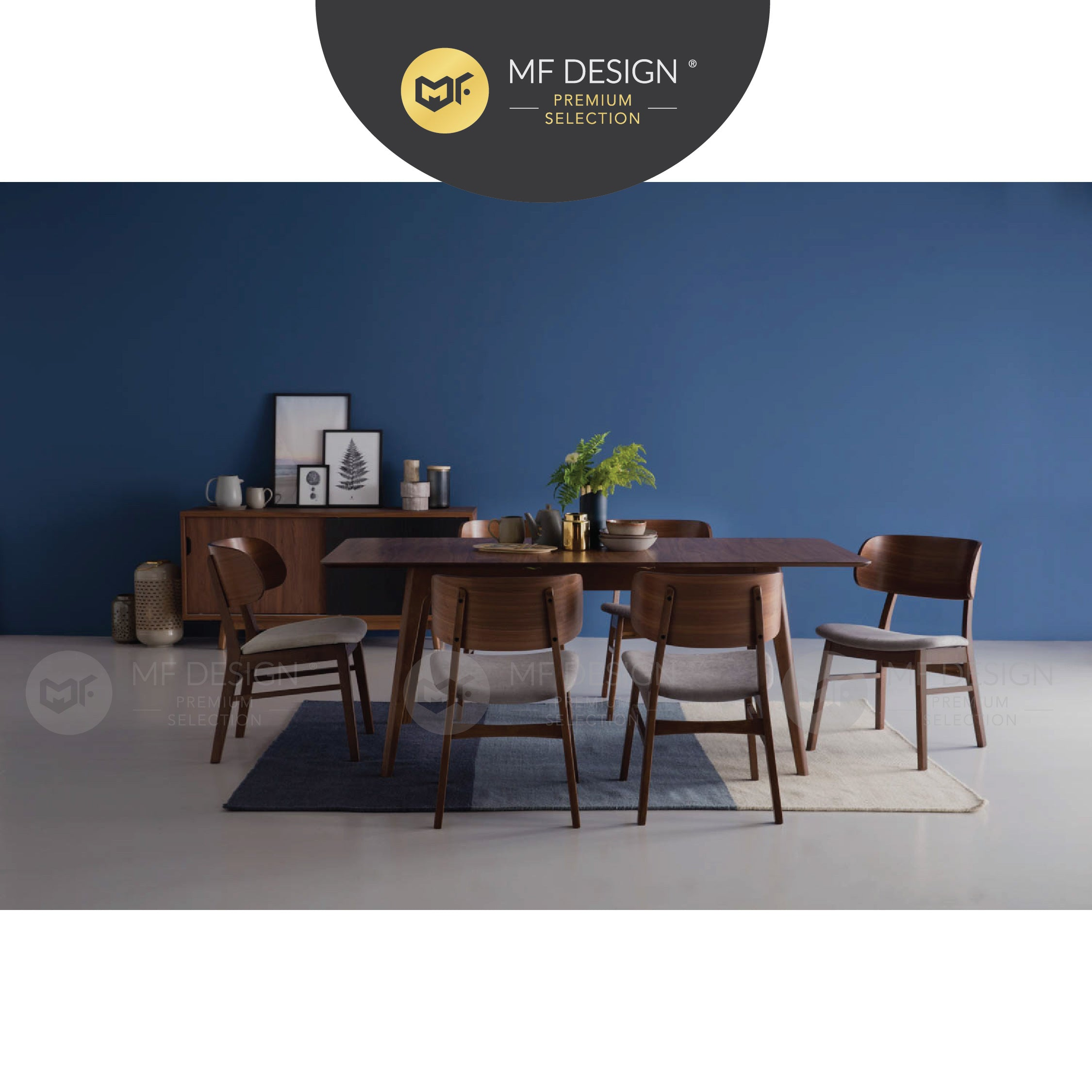 MFD Premium Aiden Dining Chair / Wooden Chair / Solid Rubber Wood / Kerusi Makan Kayu Getah / Living Room / Scandinavian