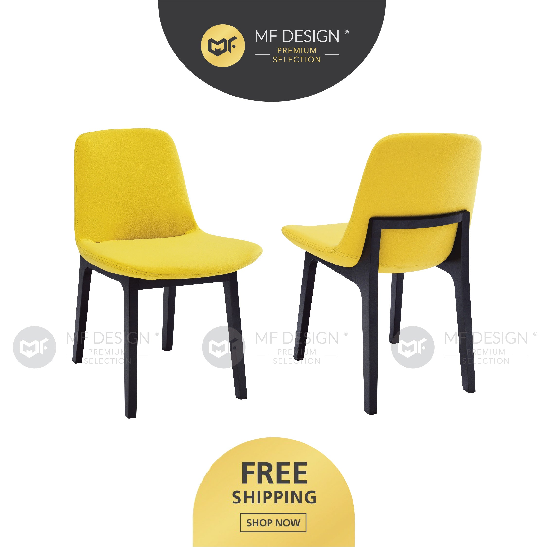 MFD Premium Amelia Dining Chair / Wooden Chair / Solid Rubber Wood / Kerusi Makan Kayu Getah / Living Room