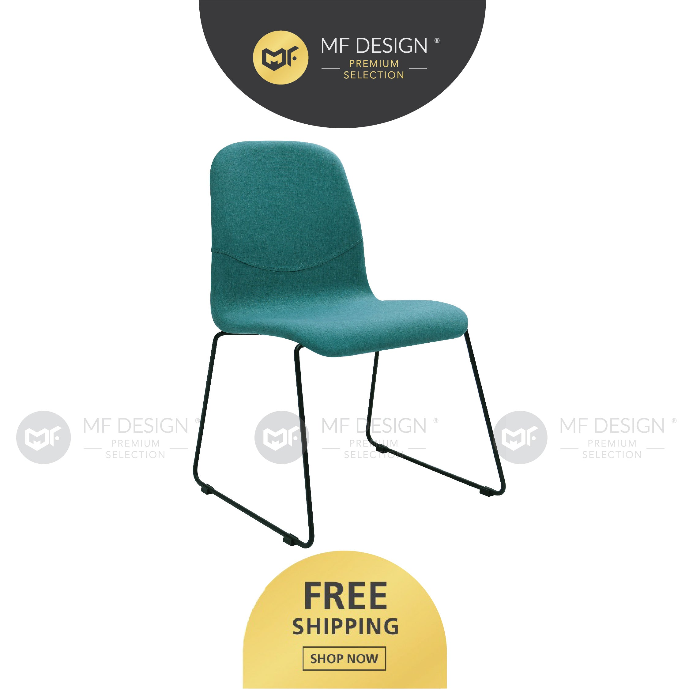 MFD Premium Aaron Dining Chair / Wooden Chair / Solid Rubber Wood / Kerusi Makan Kayu Getah / Living Room / Scandinavian