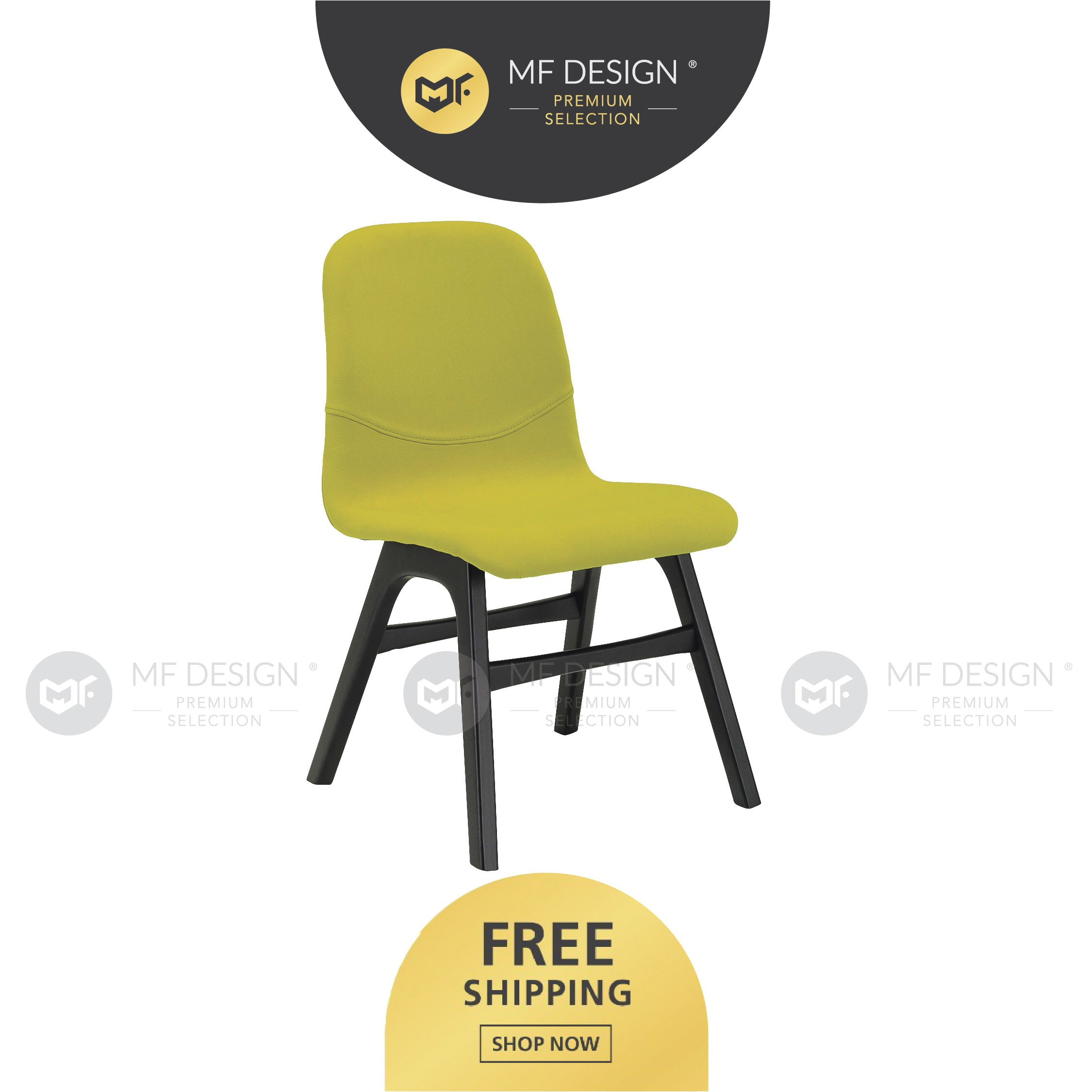 MFD Premium Alina Dining Chair / Wooden Chair / Solid Rubber Wood / Kerusi Makan Kayu Getah / Living Room / Scandinavian