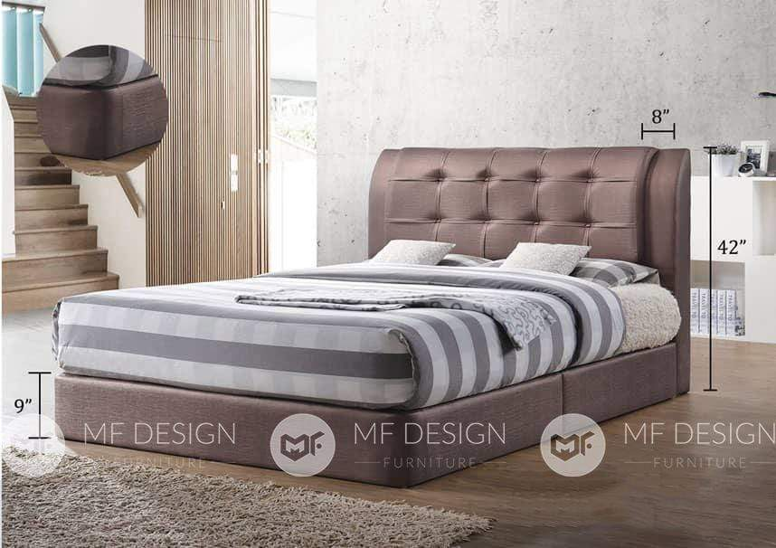68 bed BROWN / QUEEN MF DESIGN BETSY DIVAN BED ( 3D PVC) QUEEN / KING
