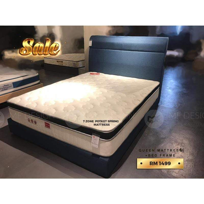 mfdesign88 bed MF DESIGN BED+MATTRESS QUEEN SIZE (SALES 05)