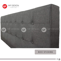 mfdesign88 bed MF DESIGN LOUIS Fabric Divan Bed Frame (GREY) SINGLE/SUPER SINGLE/QUEEN/KING