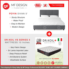 mfdesign88 bed Queen / Bed+VS Series 3 MF DESIGN POYIN BED WITH MATTRESS SINGLE / SUPER SINGLE / QUEEN / KING KATIL