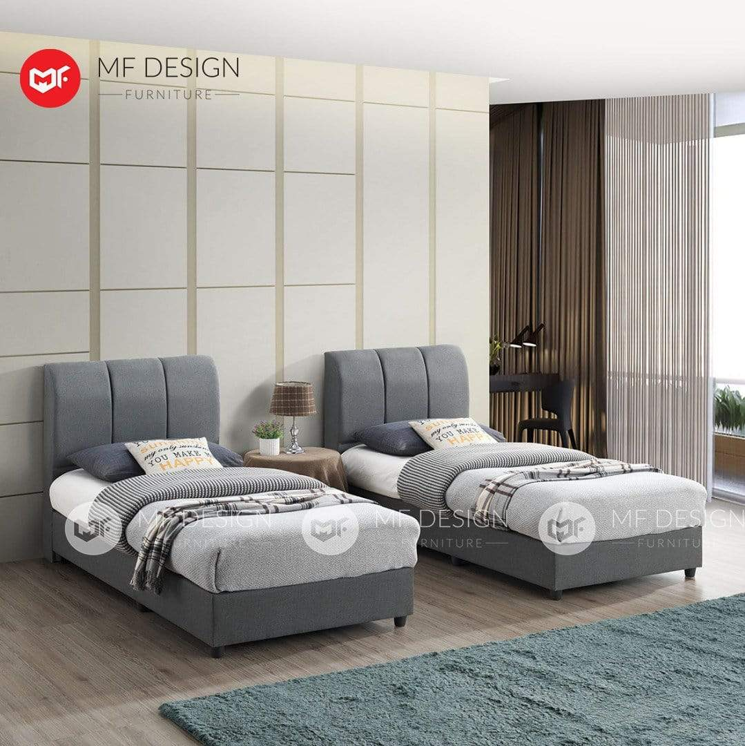 mfdesign88 bed Single / Bed Only MF DESIGN POYIN BED WITH MATTRESS SINGLE / SUPER SINGLE / QUEEN / KING KATIL