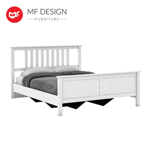 mfdesign88 bedframe LYDIA Queen Wooden Bed Frame