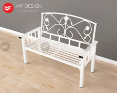 GRACE METAL BENCH CHAIR (WHITE)
