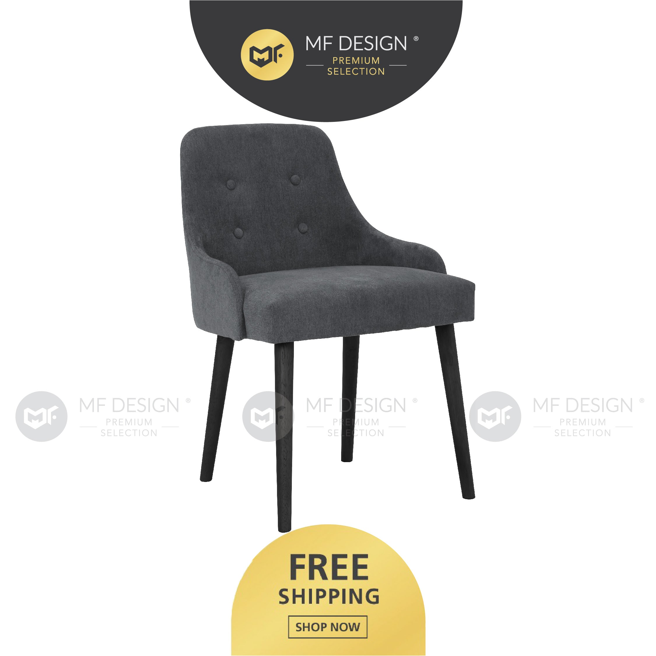 MFD Premium Charlotte Dining Chair / Wooden Chair / Solid Rubber Wood / Kerusi Makan Kayu Getah / Living Room