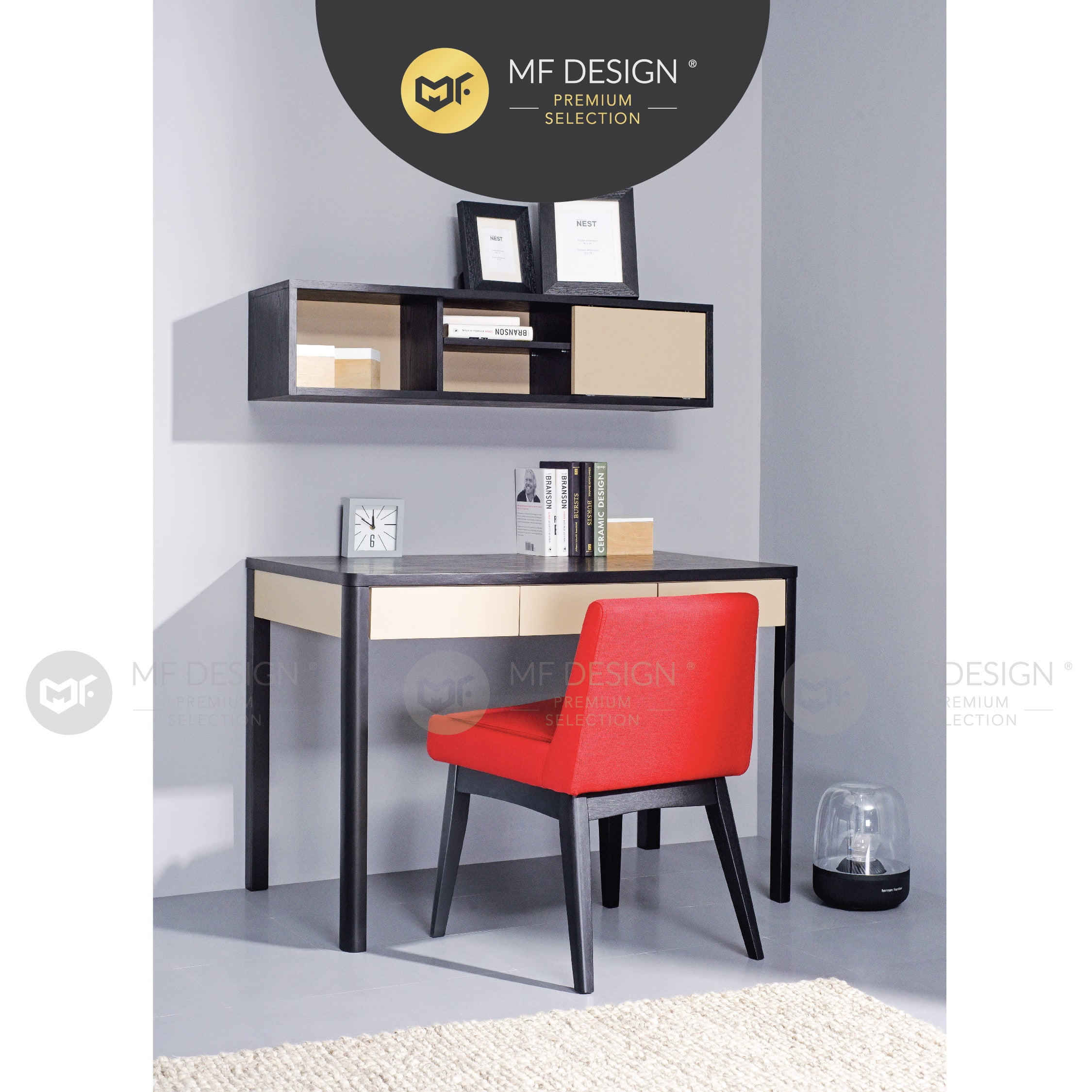 MFD Premium Caleb Dining Chair / Wooden Chair / Solid Rubber Wood / Kerusi Makan Kayu Getah / Living Room / Scandinavian
