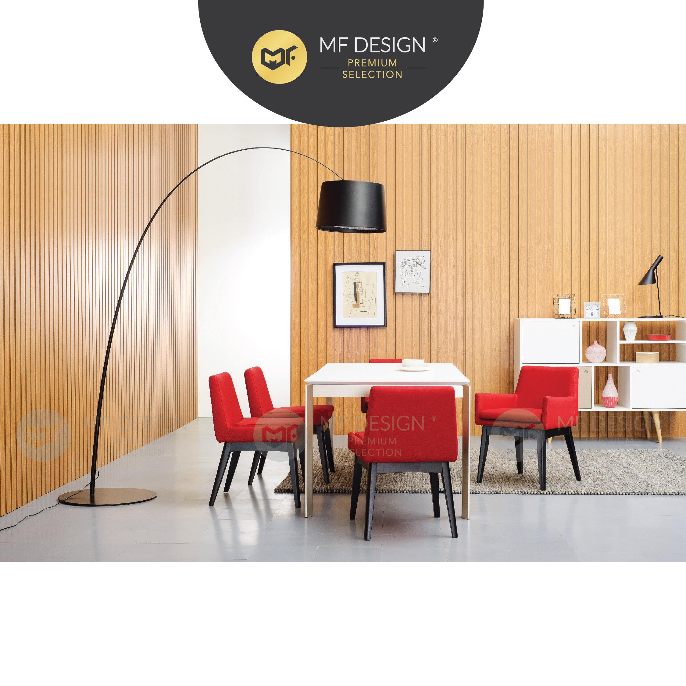 MFD Premium Calliope Dining Chair / Wooden Chair / Solid Rubber Wood / Kerusi Makan Kayu Getah / Living Room