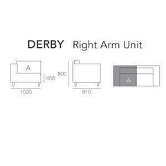 mfdesign88 CLAVER / CINNAMON DERBY RIGHT ARM UNIT
