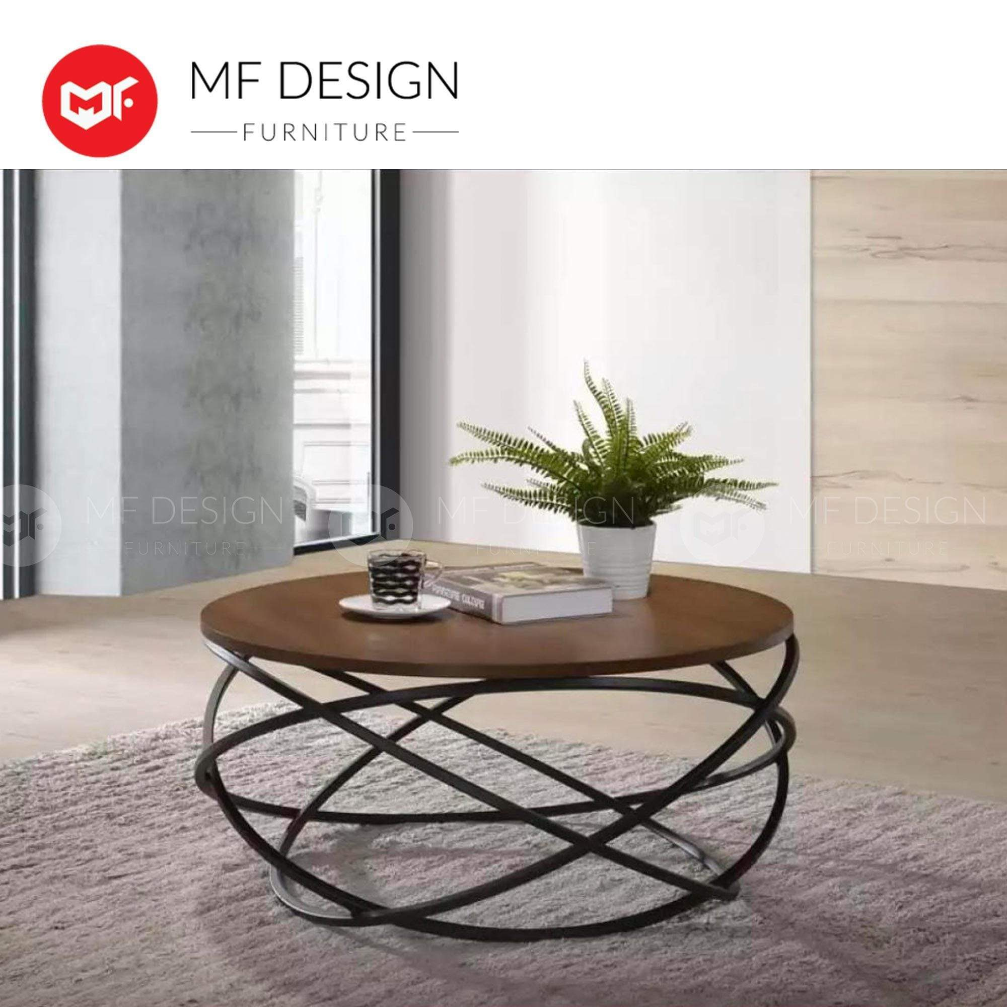 SHIN AIK Coffee table MF DESIGN RING METAL BASE COFFEE TABLE