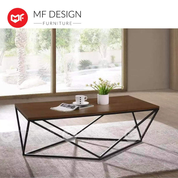 SHIN AIK Coffee table MF DESIGN TIRA COFFEE TABLE (DARK BROWN) (Modern, Brown, Wood, White,Scandinavian)