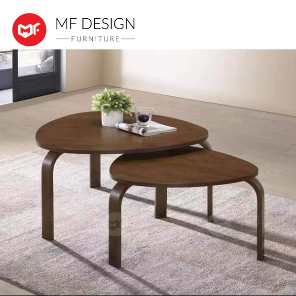 ACE MA Coffee table MF DESIGN TWINS COFFEE TABLE (MODERN) ( BROWN COLOUR )