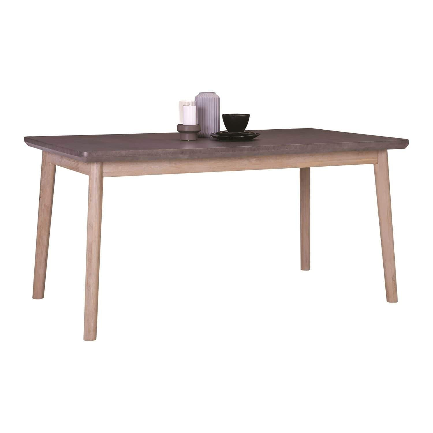 mfdesign88 CORBON 1.6M Dining Table In Havana Sandlast Grey Colour