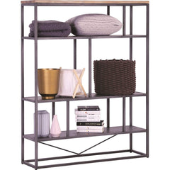 mfdesign88 Dachi High Book Shelf With Anthracite Frame