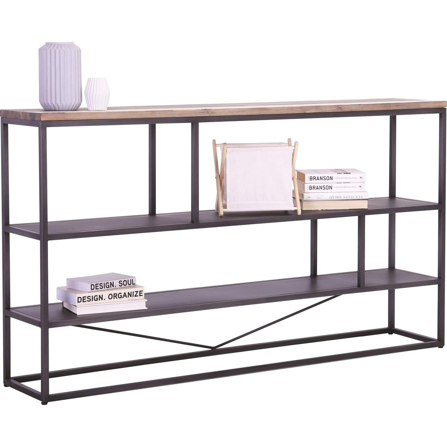 mfdesign88 Dachi Low Book Shelf With Anthracite Frame