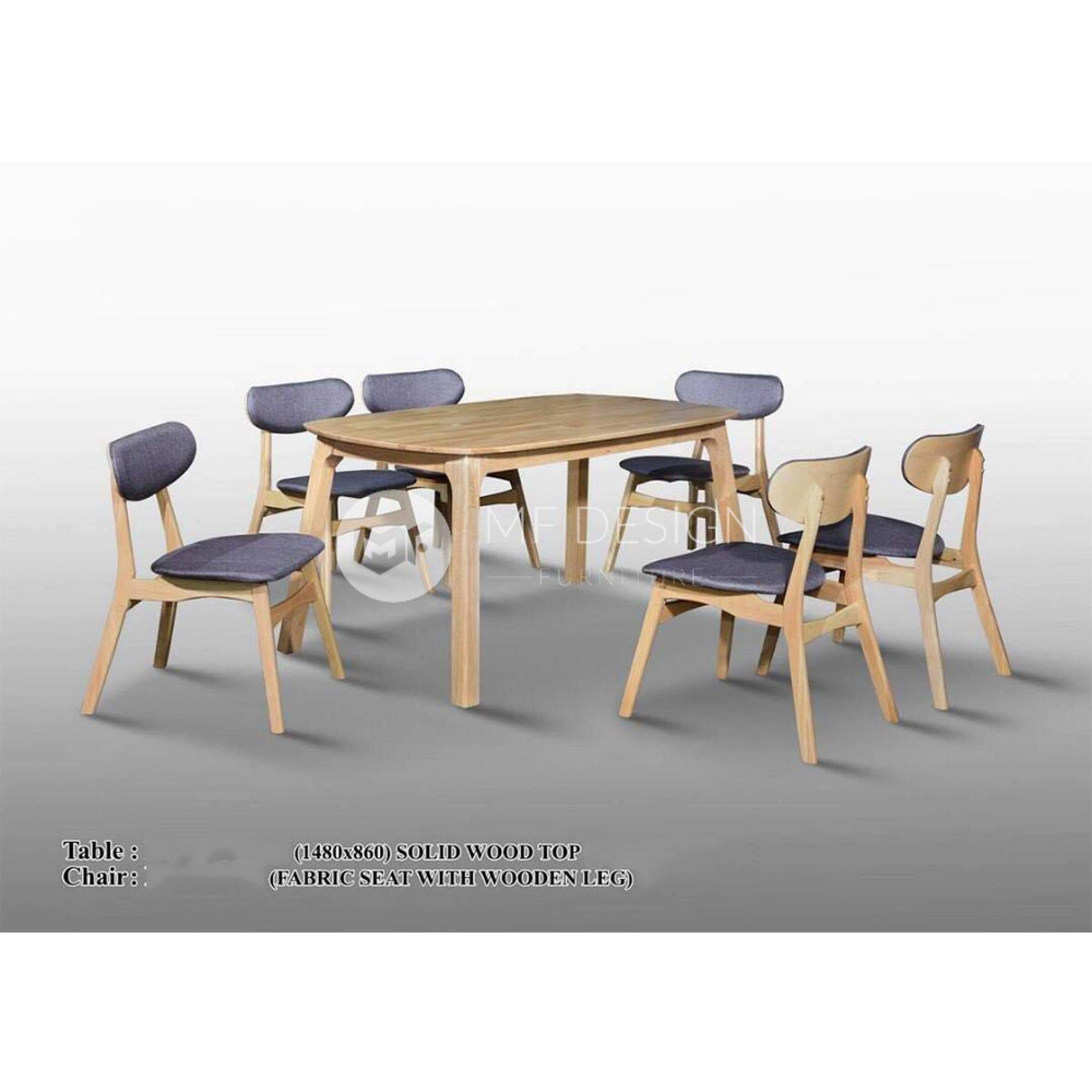 mfdesign88 Dining Sets Axel Dining Set ( 1 Table + 6 Chairs  )