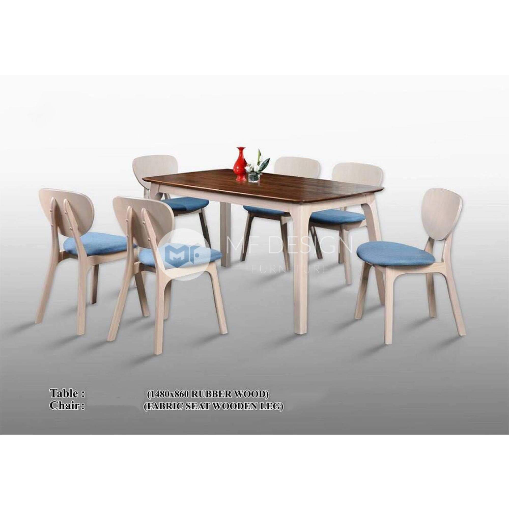 mfdesign88 Dining Sets Clyde Dining Set ( 1 Table + 6 Chairs )