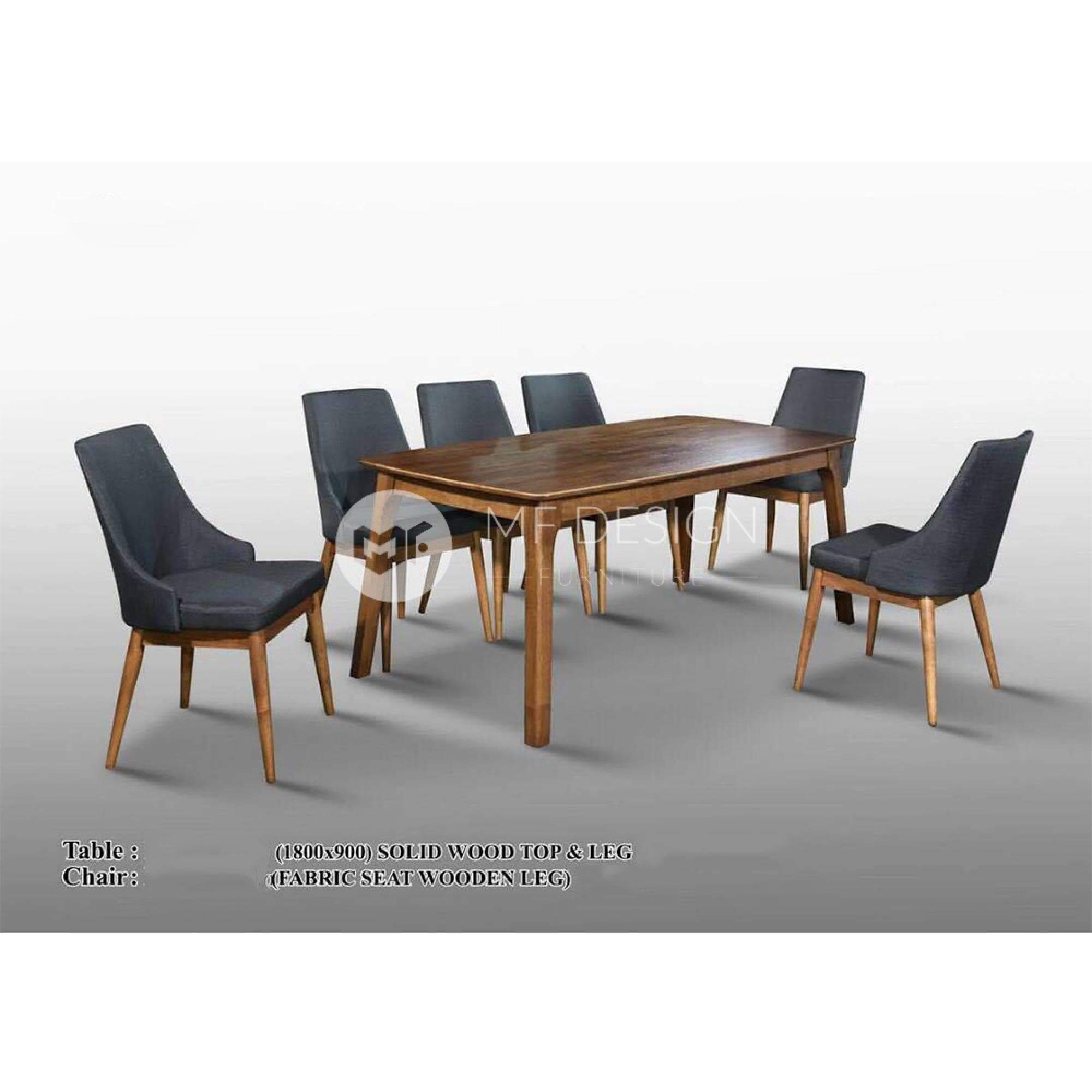 mfdesign88 Dining Sets Emilia Dining Set ( 1 Table + 6 Chairs )