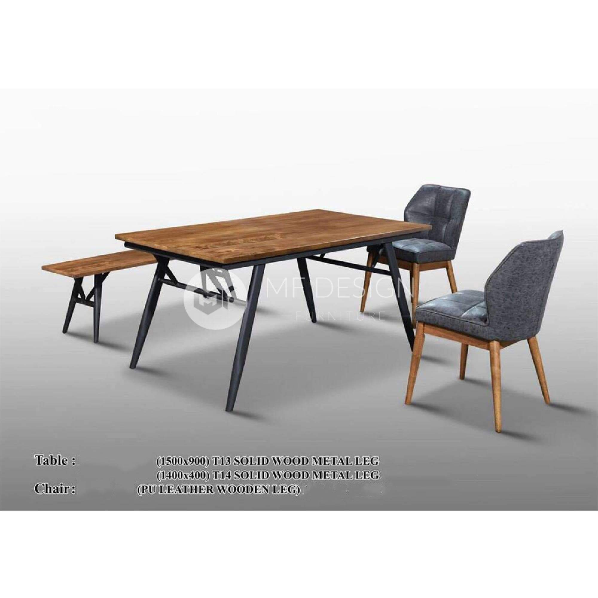 mfdesign88 Dining Sets Garnet Dining Set ( 1 Table + 2 Chairs + 1 Bench )