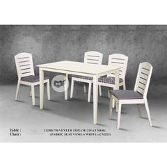 mfdesign88 Dining Sets Jasper Dining Set ( 1 Table + 4 Chairs )